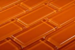 Χρωματισμένο πορτοκάλι μωσαϊκό γυαλιού Στοκ φωτογραφία με δικαίωμα ελεύθερης χρήσης