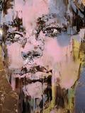 Χρωματισμένο πορτρέτο μιας γυναίκας που βλέπει στη Βενετία στοκ εικόνα