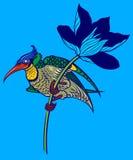 Χρωματισμένο πουλί στο magnolia Στοκ Φωτογραφίες