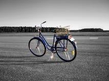 Χρωματισμένο ποδήλατο, μονοχρωματικό υπόβαθρο στοκ εικόνα
