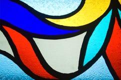 χρωματισμένο πρότυπο γυα&lam Στοκ εικόνα με δικαίωμα ελεύθερης χρήσης