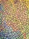 χρωματισμένο ραγισμένο κεραμίδι απεικόνιση αποθεμάτων