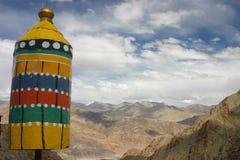 χρωματισμένο σημάδι βουνών στοκ φωτογραφία με δικαίωμα ελεύθερης χρήσης