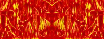 Χρωματισμένο σκοτεινό αφηρημένο έμβλημα δαιμόνων πολύ διανυσματική απεικόνιση