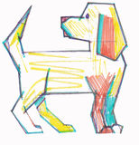 χρωματισμένο σκυλί Στοκ φωτογραφία με δικαίωμα ελεύθερης χρήσης