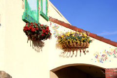 χρωματισμένο σπίτι μεξικαν Στοκ Φωτογραφίες