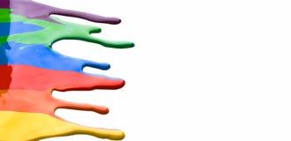 Χρωματισμένο στάλαγμα χρωμάτων στοκ εικόνα με δικαίωμα ελεύθερης χρήσης