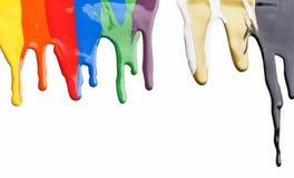 Χρωματισμένο στάλαγμα χρωμάτων στοκ εικόνα