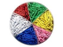 χρωματισμένο συνδετήρες έγγραφο στοκ φωτογραφία με δικαίωμα ελεύθερης χρήσης