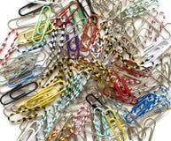 χρωματισμένο συνδετήρες  Στοκ εικόνα με δικαίωμα ελεύθερης χρήσης