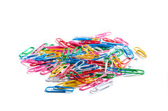 χρωματισμένο συνδετήρες Στοκ Φωτογραφίες