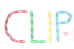 χρωματισμένο συνδετήρες Στοκ φωτογραφία με δικαίωμα ελεύθερης χρήσης