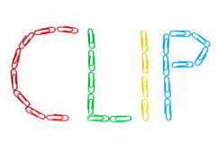 χρωματισμένο συνδετήρες Στοκ Εικόνα