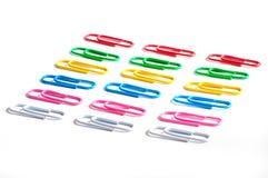 χρωματισμένο συνδετήρες Στοκ φωτογραφίες με δικαίωμα ελεύθερης χρήσης