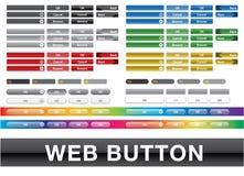 Χρωματισμένο συλλογή ενδιάμεσο με τον χρήστη Ιστού κουμπιών Στοκ Εικόνες