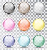 χρωματισμένο σφαίρες γυ&alpha επίσης corel σύρετε το διάνυσμα απεικόνισης Στοκ Εικόνες