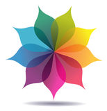 Χρωματισμένο σχέδιο λουλουδιών διανυσματική απεικόνιση