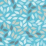 Χρωματισμένο σχέδιο στο θέμα φύλλων Σχέδιο φθινοπώρου Στοκ Φωτογραφία