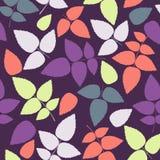 Χρωματισμένο σχέδιο στο θέμα φύλλων Σχέδιο φθινοπώρου Στοκ φωτογραφία με δικαίωμα ελεύθερης χρήσης