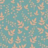 Χρωματισμένο σχέδιο στο θέμα φύλλων Σχέδιο φθινοπώρου Στοκ εικόνες με δικαίωμα ελεύθερης χρήσης