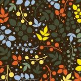 Χρωματισμένο σχέδιο στο θέμα φύλλων Σχέδιο φθινοπώρου Στοκ Φωτογραφίες
