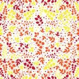 Χρωματισμένο σχέδιο στο θέμα φύλλων Σχέδιο φθινοπώρου Στοκ φωτογραφίες με δικαίωμα ελεύθερης χρήσης