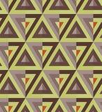 Χρωματισμένο σχέδιο τριγώνων Στοκ Εικόνες