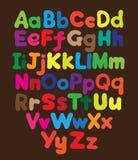 Χρωματισμένο σχέδιο χεριών αλφάβητου φυσαλίδα απεικόνιση αποθεμάτων