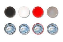 Χρωματισμένο σύνολο μπροστινής και πίσω πλευράς κουμπιών καρφιτσών Στοκ φωτογραφίες με δικαίωμα ελεύθερης χρήσης