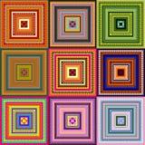 χρωματισμένο τάπητας πρότυπο Στοκ εικόνες με δικαίωμα ελεύθερης χρήσης