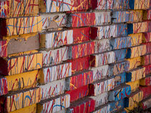 Χρωματισμένο τούβλο Στοκ Φωτογραφίες