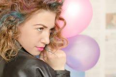 χρωματισμένο τρίχωμα κορι&ta Στοκ Εικόνες