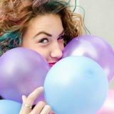 χρωματισμένο τρίχωμα κορι&ta Στοκ Εικόνα