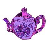 Χρωματισμένο τρύγος teapot Στοκ φωτογραφίες με δικαίωμα ελεύθερης χρήσης