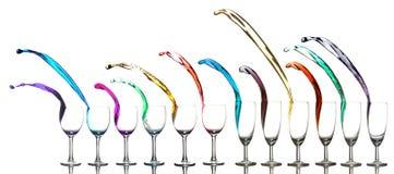χρωματισμένο υγρό γυαλιών Στοκ εικόνες με δικαίωμα ελεύθερης χρήσης
