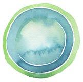 Χρωματισμένο υπόβαθρο κουμπιών κύκλων watercolor απομονωμένος Στοκ Φωτογραφία