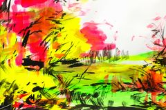 Χρωματισμένο υπόβαθρο με τα πολύχρωμα χρώματα, χρωματισμένη βούρτσα strok διανυσματική απεικόνιση