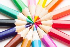 Χρωματισμένο υπόβαθρο μολυβιών Στοκ Φωτογραφία