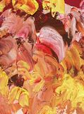 Χρωματισμένο υπόβαθρο στους τόνους κρητιδογραφιών του ροζ και του χρυσού στοκ φωτογραφίες