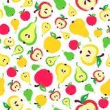 Χρωματισμένο υπόβαθρο σχέδιο αχλαδιών της Apple ελεύθερη απεικόνιση δικαιώματος