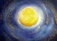 Χρωματισμένο φεγγάρι Απεικόνιση αποθεμάτων