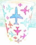 Χρωματισμένο φλυτζάνι στοκ εικόνες