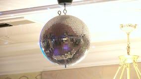 Χρωματισμένο φως disco λαμπυρίσματος απόθεμα βίντεο