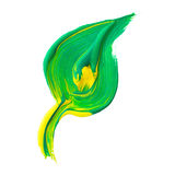 Χρωματισμένο φύλλο Στοκ Εικόνα