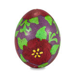 Χρωματισμένο χέρι αυγό Πάσχας που απομονώνεται στο άσπρο υπόβαθρο με το clippi Στοκ φωτογραφία με δικαίωμα ελεύθερης χρήσης