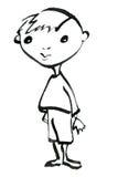 Χρωματισμένο χέρι σκίτσο του μικρού παιδιού Στοκ φωτογραφία με δικαίωμα ελεύθερης χρήσης