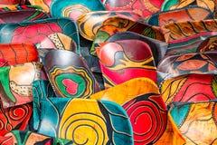 Χρωματισμένο χέρι υπόβαθρο κύπελλων Στοκ Φωτογραφία