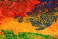 Χρωματισμένο χέρι υπόβαθρο τεχνών watercolor Στοκ φωτογραφίες με δικαίωμα ελεύθερης χρήσης