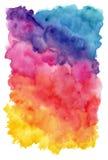 Χρωματισμένο χέρι υπόβαθρο watercolor Στοκ φωτογραφία με δικαίωμα ελεύθερης χρήσης