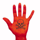 Χρωματισμένο χέρι Στοκ Εικόνα